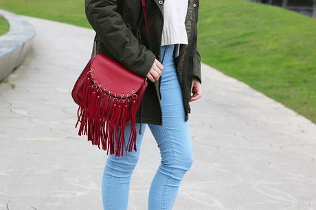 Outfit básico para invierno con parka