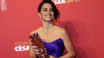 Penélope Cruz recibe el César de Honor en Francia