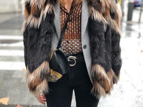 fur coat y blazer vichy