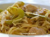 Fideos chinos verduras pollo