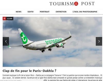 Fracasa la primera ruta aérea que unía la ciudad saharaui de Dajla con París