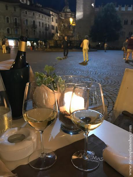 Cenar en Trento Italia blog viaje