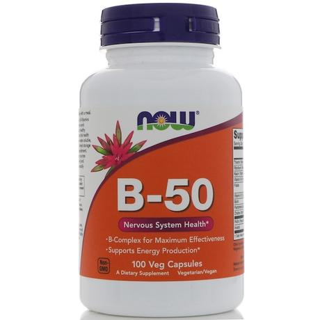 Now Foods, B-50, 100 cápsulas vegetales