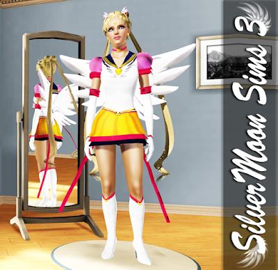 Traje de Sailor Moon Eternal para Los Sims 3, por SilverMoon