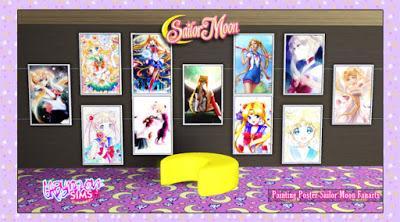 Posters de Sailor Moon para Los Sims 3