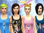 Tops Sailor Moon Crystal para Sims