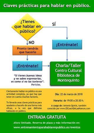 Charla-Taller: 'Claves prácticas para hablar en público'