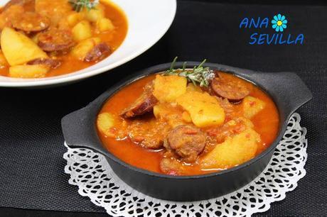 Guiso de patatas con chorizo Thermomix Ana Sevilla