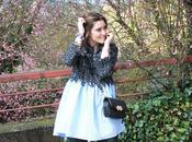 Tweed azul negro