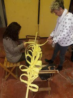 Clausura del taller de palmas rizadas