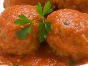 Carne calidad, albóndigas salsa tomates, deliciosas