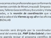 IAPG PERU CONVOCATORIA: reunión coordinación comite científico MinerLima2018