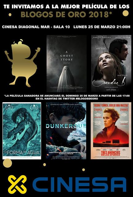 Cinesa os invita a ver la Mejor Película de los Blogos de Oro 2018