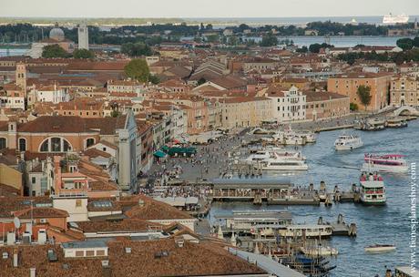 Vistas Campanile Venecia mirado Italia