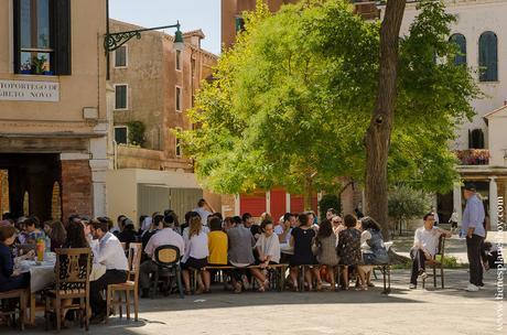 Campo Ghetto Nuovo Venecia barrio judio Italia turismo