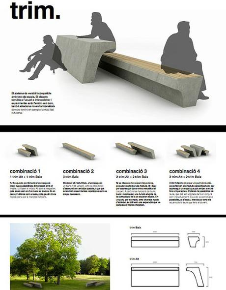 9 ejemplos de panel resumen proyectos de equipamiento for Ejemplos de mobiliario urbano