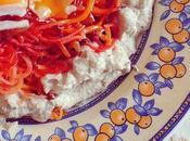 Noodles remolachas zanahorias crema queso vegetal