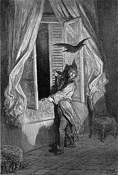 Poema El Cuervo de Edgar Allan Poe. Ilustración por Gustavo Doré