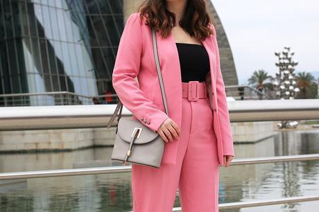 Primavera con mi traje rosa de Zara