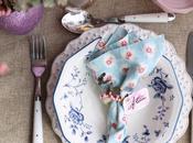 Anillo rustico floral para servilletas