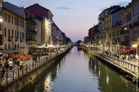 Navigli noche Milán canales encanto viaje Italia 15 dias