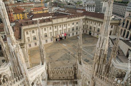 Subir a tejado terraza Duomo Milan viaje Italia
