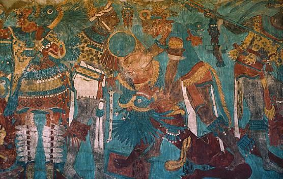 Pintura prehisp nica en am rica paperblog for El mural de bonampak