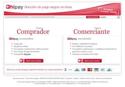 HiPay.com I - Sistema de pagos electrónicos asociado a AlloPass