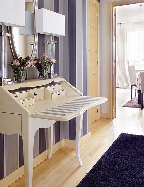 Algunos consejos para pintar paredes con rayas paperblog - Pintar un recibidor ...