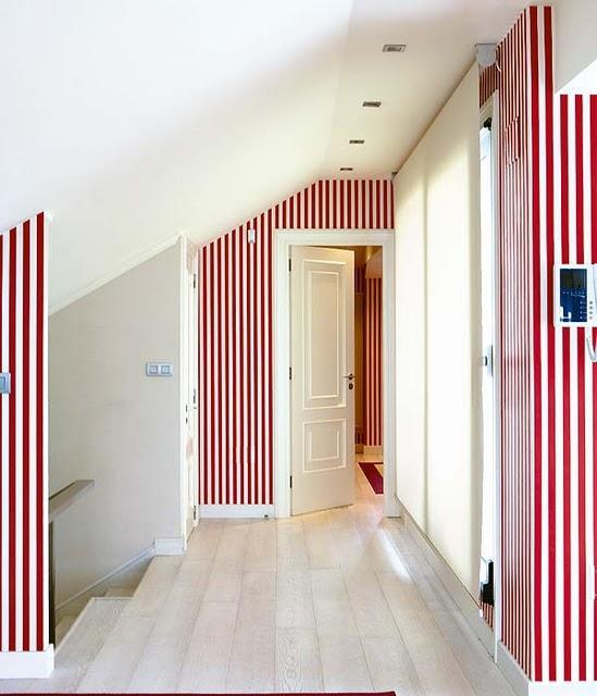 Algunos consejos para pintar paredes con rayas paperblog - Pintar paredes a rayas horizontales ...