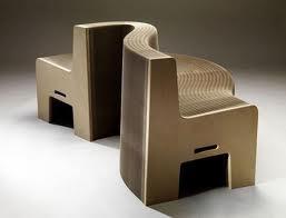 Muebles de cartón, Reciclables