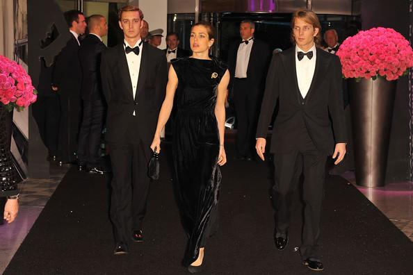 Pierre Casiraghi, Charlotte Casiraghi and Andrea Casiraghi attend the Monaco Rose Ball 2011 at Sporting Monte Carlo on March 19, 2011 in Monte Carlo, Monaco. This year's Rose Ball will not be attended by the Royal family as they are in mourning after Princess Antoinette of Monaco passed away on Friday at the age of 90.