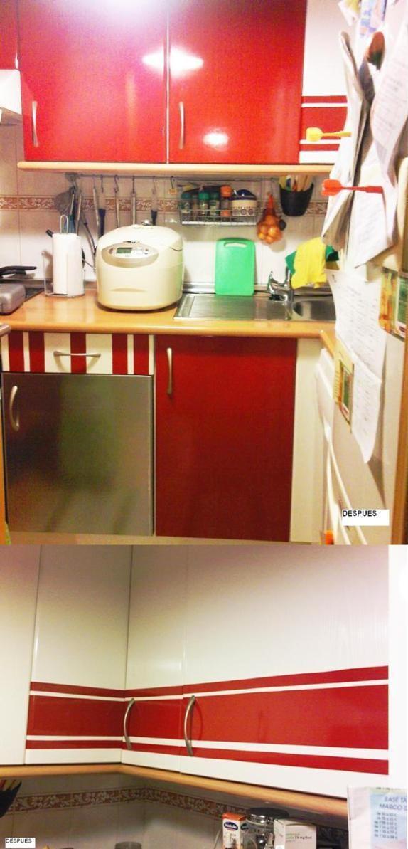 Las puertas forradas con vinilo de mar a paperblog - Cocinas con vinilo ...