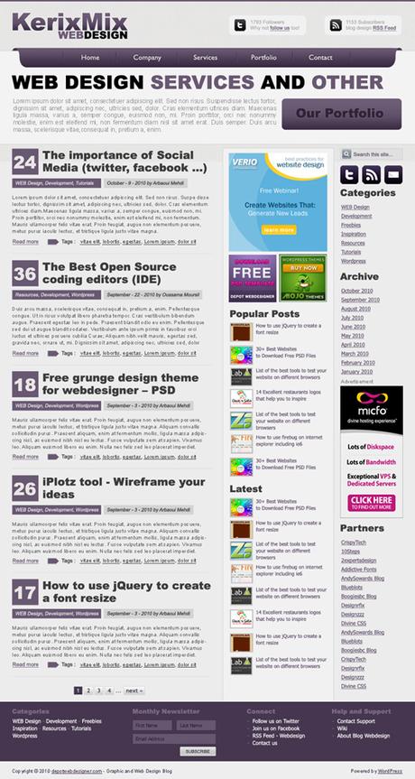 Kerix Mix layout per webdesigner