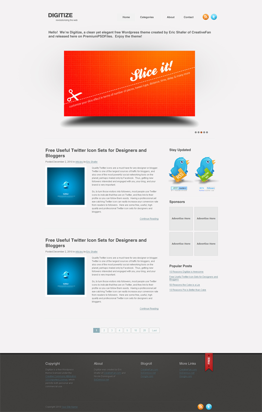 10 Templates gratuitos de sitios web en PSD para una buena ...