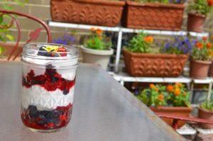 snack saludable de yogurt