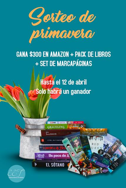 ¡SORTEO! Gana $300 en Amazon + Pack de libros + Set de marcapáginas