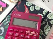 Calculadoras CANON, mundo nuevo multicolor.