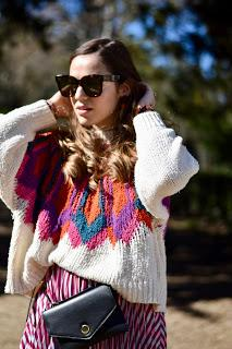 The colorful sweater
