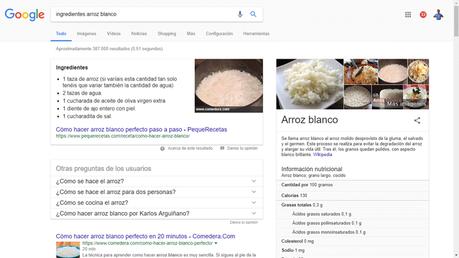 microformatos busqueda arroz