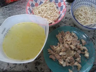 Ramen de pollo a la española Thermomix