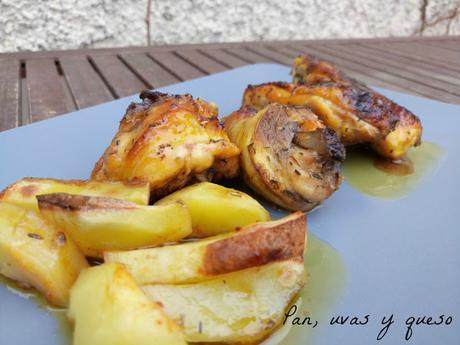 Pollo rustido al Pedro Ximénez