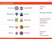 Cartelera partidos jornada futbol mexicano