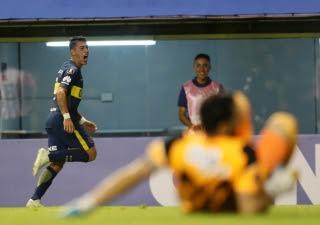 Boca-Junior:Copa Libertadores: el xeneixe gano en la Bombonera con un gol de Cristian Pavón