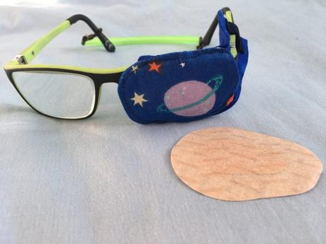Parche ocular para poner en la gafa