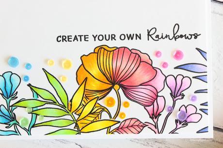 Rainbow Cards Two Ways + Waffle Flower BLOG HOP