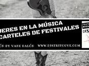 Mujeres música carteles festivales