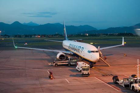 Aéropuerto Bérgamo Ryaner viaje Italia Milán