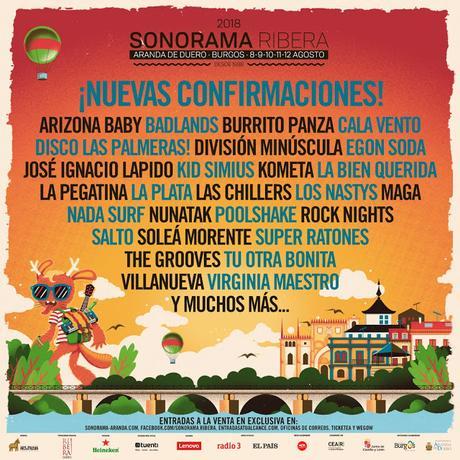 Sonorama 2018: La Pegatina, Nada Surf, Lapido, La Bien Querida, Maga, Virginia Maestro, Tu Otra Bonita, Egon Soda...
