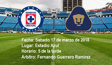 Analisis previo del Cruz Azul vs Pumas de la UNAM a jugarse en el Azul